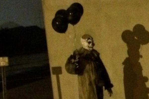 A creepy clown was spotted in Green Bay, Wisconsin (photo courtesy of upi.com)