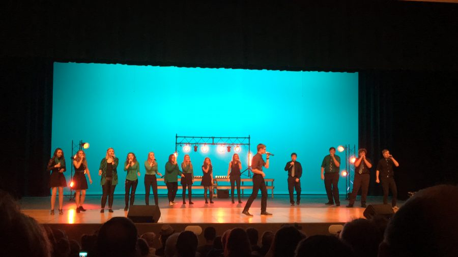 Senior+Andrew+Wirrig+performs+his+solo+with+Catalyst.