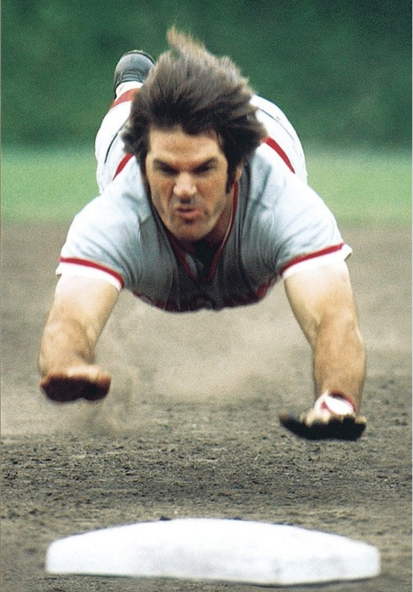 Legend Pete Rose slides into the base at the 1970 All-Star Game (courtesy of Fox Sports).