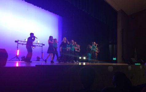 Northmont's A cappella group Catalyst sings at the last concert for the school year (image courtesy of Reana Liedle, TNT News).