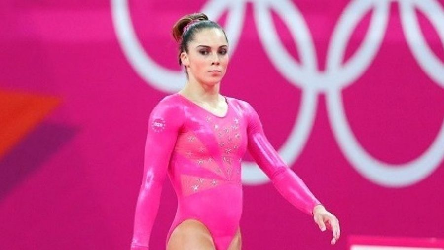 McKayla Maroney competes in the 2012 summer Olympics.  Maroney was under the care of serial abuser Dr.  Larry Nassar at this time (courtesy of Fox News).