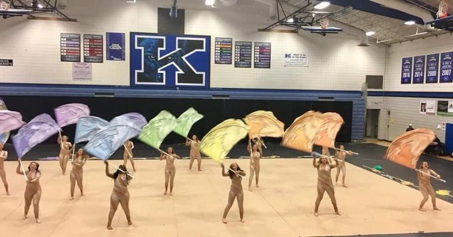 Northmont's High School color guard preforming last years MEPA competition.