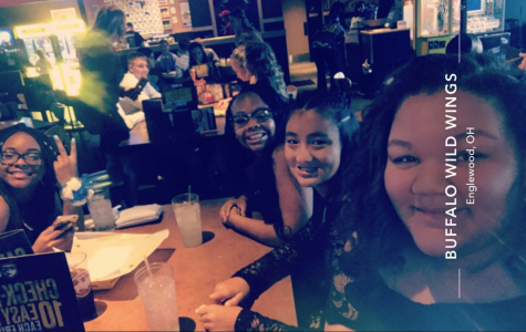 Friends at BW3s about to go to the dance.
