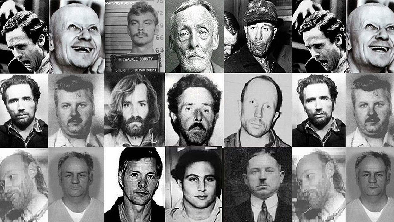 Some of the most notorious serial killers to date (courtesy of wearesocial.com).