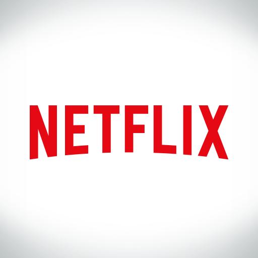 The logo for the streaming media company: Netflix (courtesy of amazon.com).