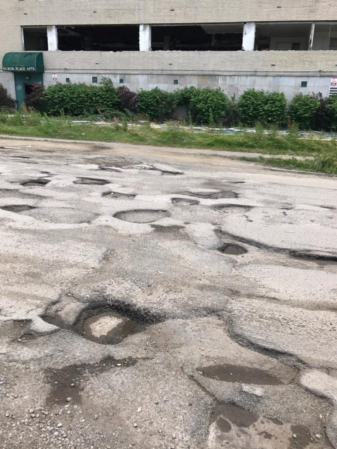 Deteriorated roads in Ohio