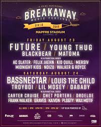 Poster for the 2019 Breakaway music festival