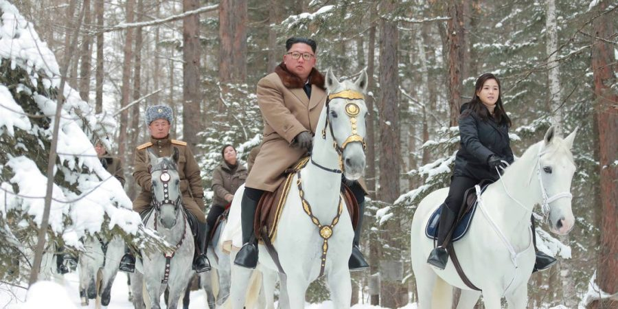This was the picture that was sent out when North Korea mentioned the Christmas gift