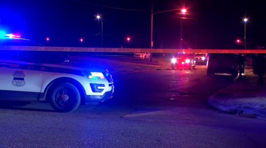 Two male suspects assault multiple officers with stolen vehicles
