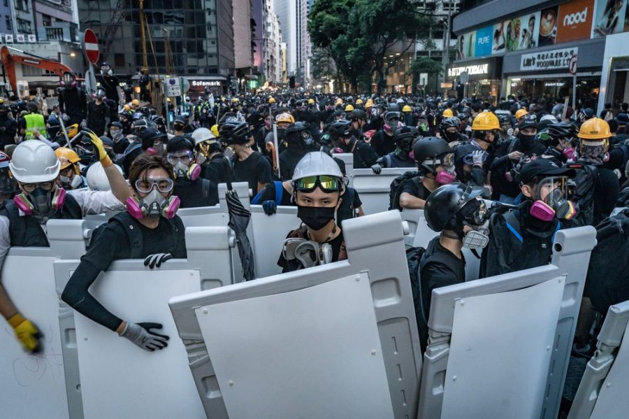 The+people+of+Hong+Kong+gather+in+the+streets+in+protest+of+Chinese+rule.