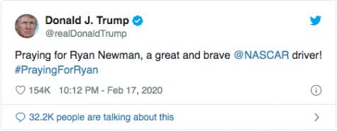 President Trump Tweeting Prayers for Ryan