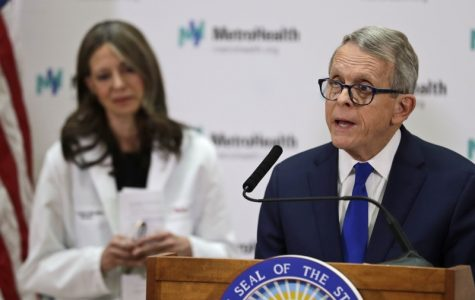 Governor Mike Dewine talks about how Ohio is preparing for the virus (photo courtesy of Dayton Daily News).