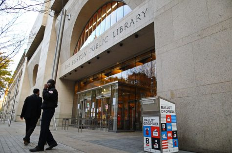 The Boston Public Library, where the ballot burning took place. Credits: bostonglobe.com