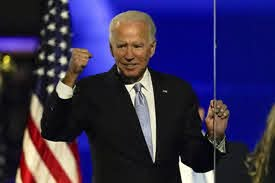 Biden giving his victory speech in Wilmington, Delaware Credit: apnews.com