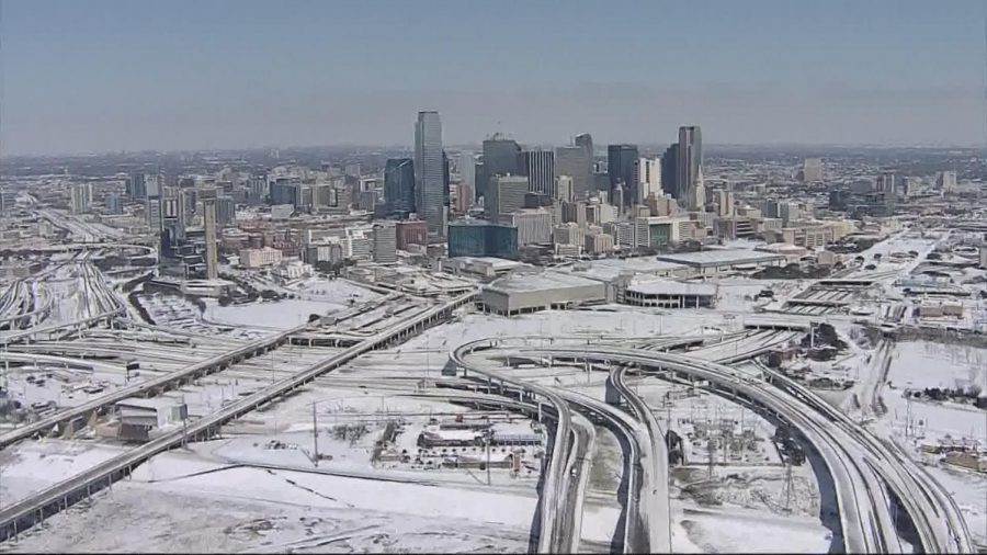 Dallas Texas Left Covered in ice