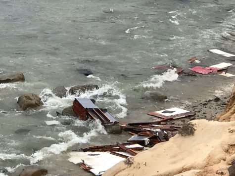 Debris from the capsized boat. Photo Credit: San Diego Fire-Rescue Department via REUTERS